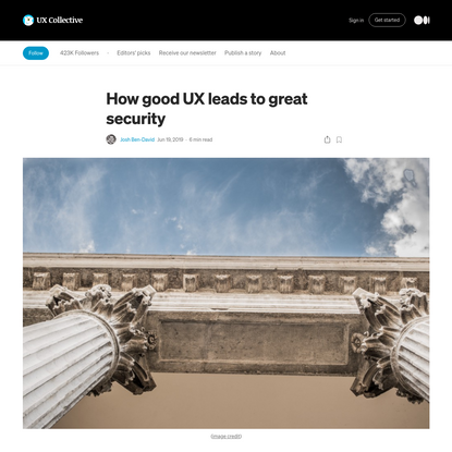 How good UX leads to great security