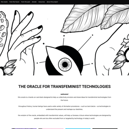 The Oracle for Transfeminist Technologies