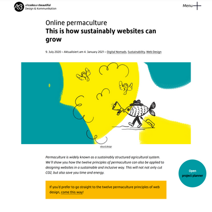 Permaculture for websites: sustainable growth