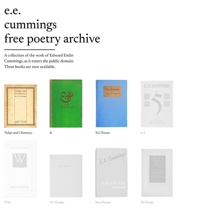 the e.e. cummings free poetry archive