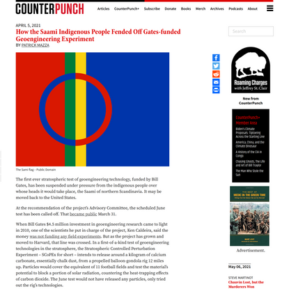 How the Saami Indigenous People Fended Off Gates-funded Geoengineering Experiment - CounterPunch.org