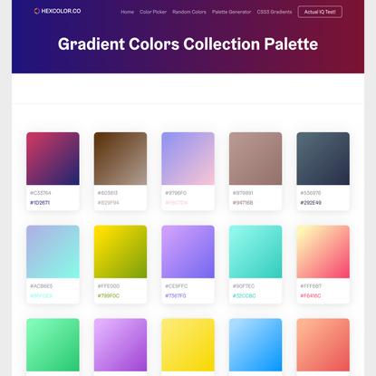 Gradient Colors Collection Palette - Beautiful colored gradients