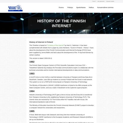 History of the Finnish Internet - Suomen Internet-yhdistys
