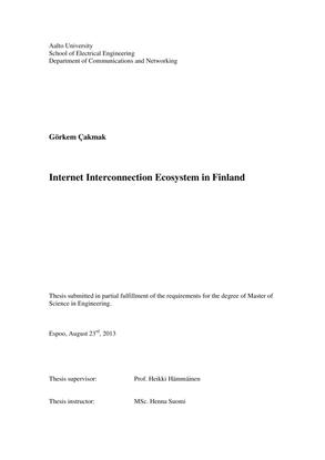 Internet Interconnection Ecosystem in Finland – Görkem Çakmak