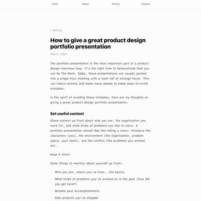 How to give a great product design portfolio presentation