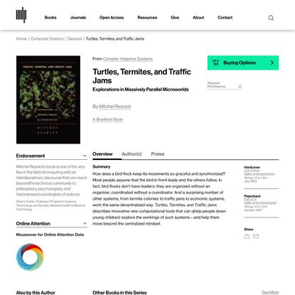 Turtles, Termites, and Traffic Jams