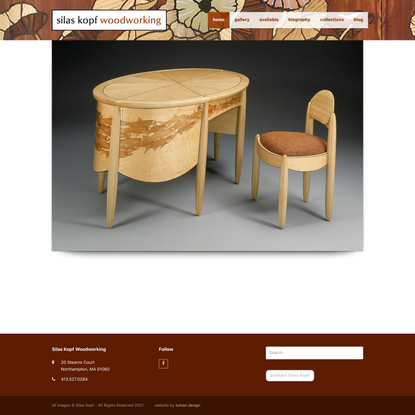 Home - Silas Kopf Woodworking - Inlaid Wood Marquetry Studio Furniture