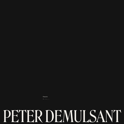 Peter Demulsant — Interactive developer