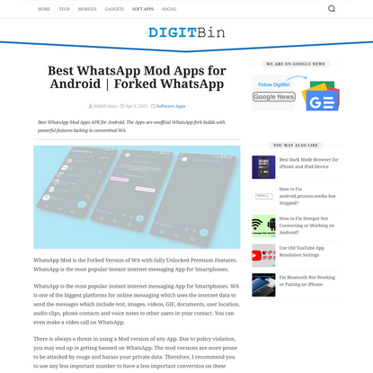 15 Best WhatsApp Mod Apps for Android (Updated April 2021)