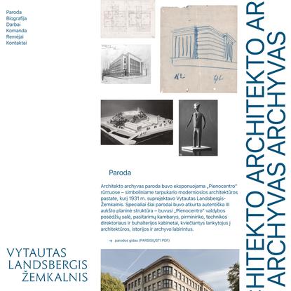 Vytautas Landsbergis-Žemkalnis – Architekto Archyvas
