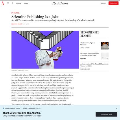 Scientific Publishing Is a Joke