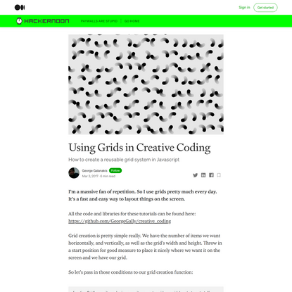 Using Grids in Creative Coding