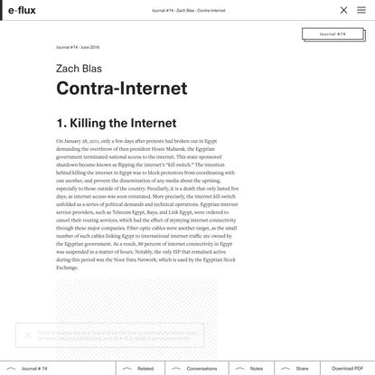 Contra-Internet