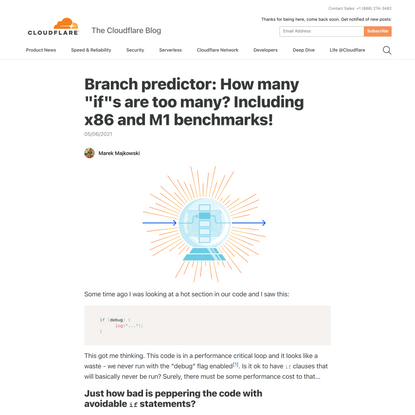 """Branch predictor: How many """"if""""s are too many? Including x86 and M1 benchmarks!"""