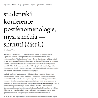 jakubferenc.cz — kód | design | filozofie