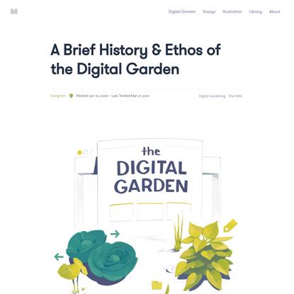A Brief History & Ethos of the Digital Garden