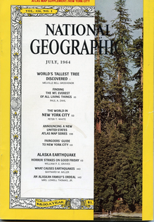 National Geographic July 1964 issue cover