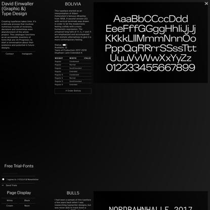 David Einwaller, Graphic & Type Design
