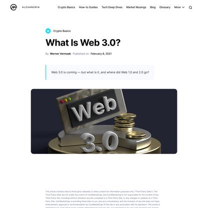 What Is Web 3.0? | CoinMarketCap