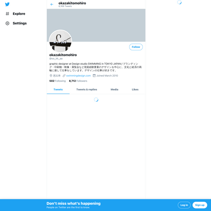 okazakitomohiro (@oo_kk_aa) / Twitter