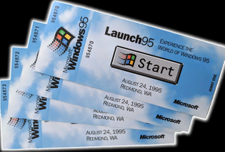 Windows 95 Launch Event Ticket