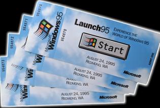 Windows 95 Launch Event Ticket