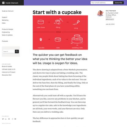 Start with a cupcake | Inside Intercom