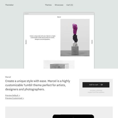 Marcel Tumblr Theme - Themeber