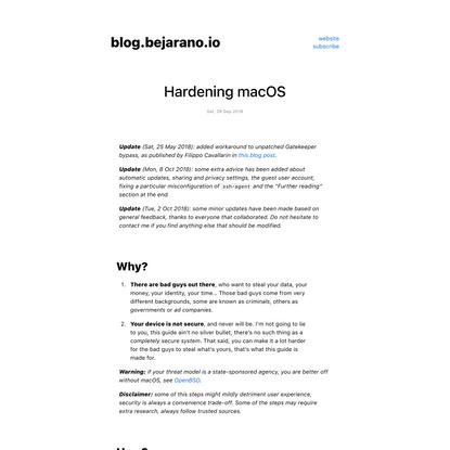 Hardening macOS - Ricard Bejarano