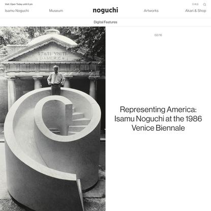 Representing America: Isamu Noguchi at the 1986 Venice Biennale - The Noguchi Museum