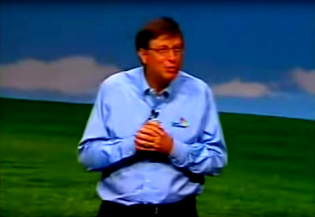 Bill Gates At the XP Launch in 2001