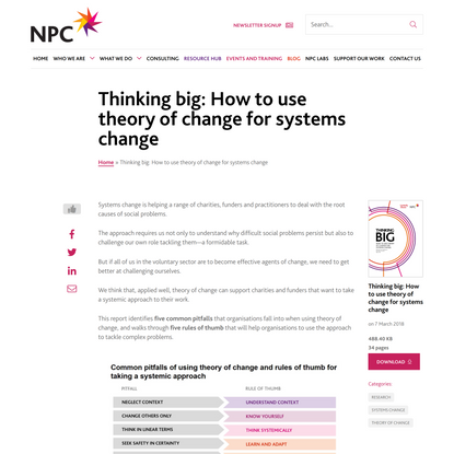 Thinking big: How to use theory of change for systems change