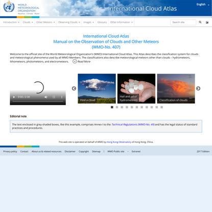 Home | International Cloud Atlas