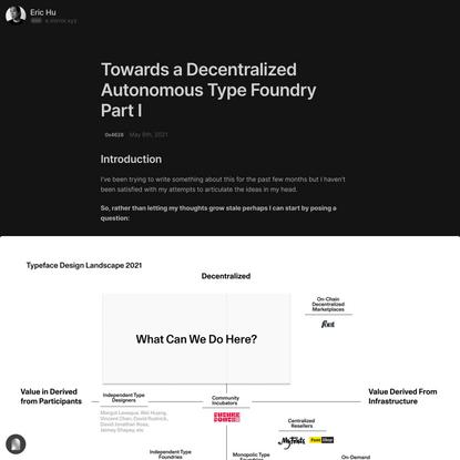 Towards a Decentralized Autonomous Type Foundry Part I — Mirror