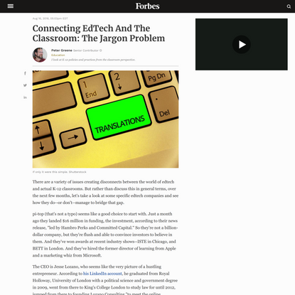 Connecting EdTech And The Classroom: The Jargon Problem