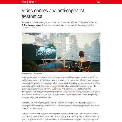 Video games and anti-capitalist aesthetics