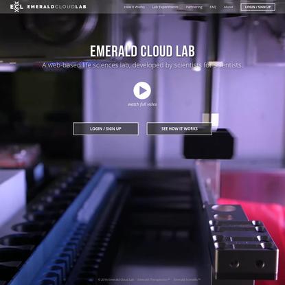 Emerald Cloud Lab