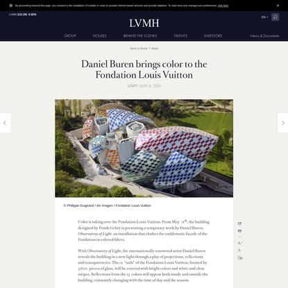 Daniel Buren brings color to the Fondation Louis Vuitton - LVMH