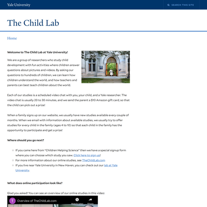 Welcome   The Child Lab