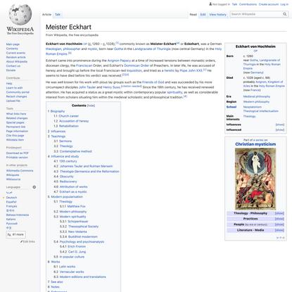 Meister Eckhart - Wikipedia