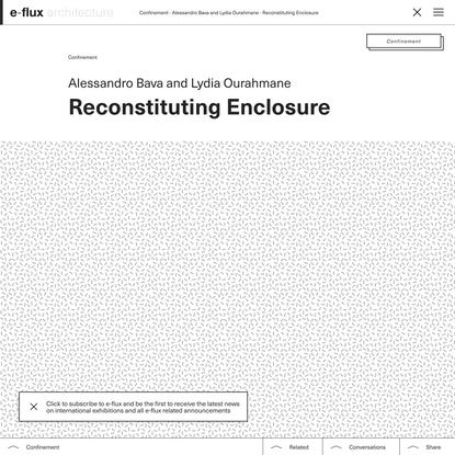 Reconstituting Enclosure