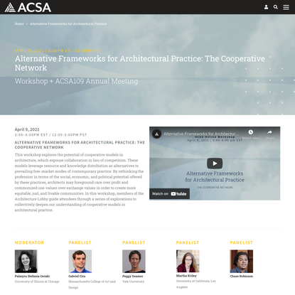 Alternative Frameworks for Architectural Practice: The Cooperative Network