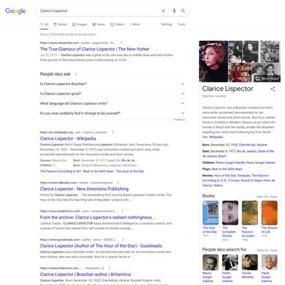 Clarice Lispector - Google Search