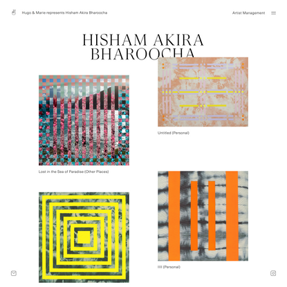 Hisham Akira Bharoocha, Creative & Audio/Visual Director, represented by Hugo & Marie