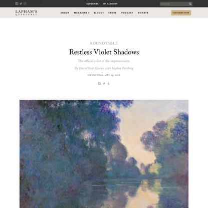 Restless Violet Shadows | David Scott Kastan with Stephen Farthing