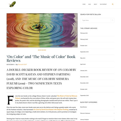 'On Color' and 'The Music of Color' Book Reviews | Notes of Oak