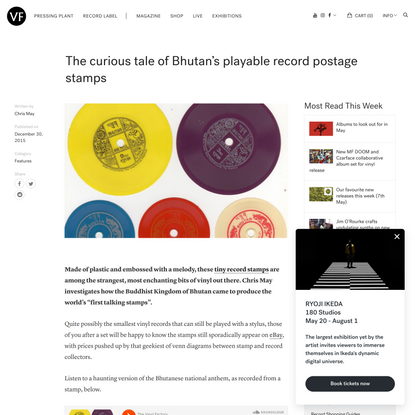 The curious tale of Bhutan's playable record postage stamps - The Vinyl Factory