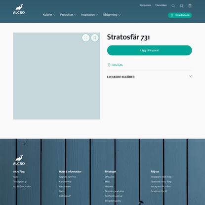 Stratosfär 731 | Alcro Färg