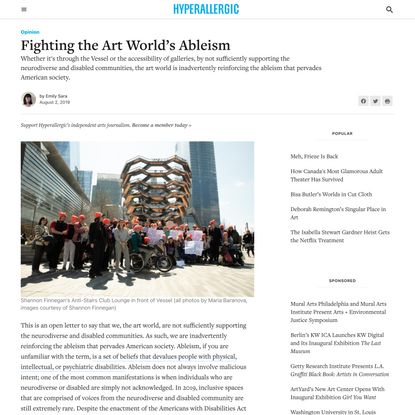 """Emily Sara, """"Fighting the Art World's Ableism"""""""