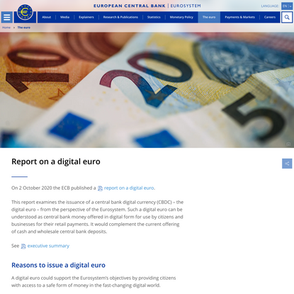Report on a digital euro